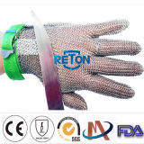 Steel inoxidable Gloves avec Stainless 100% Steel Ring Mesh