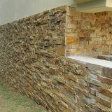 Ardesia gialla arrugginita naturale esterna Manufactured Ledgestone per la parete
