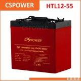 Batterie de gel de température élevée de la fabrication 12V55ah de la Chine - télécommunications