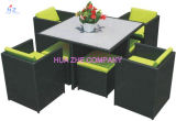 Sofá ajustado da plataforma do sofá de vime secional ao ar livre do Rattan do PE da mobília