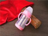 l'alta bottiglia di bambino di vetro di Borosilicate 180ml con la calotta di protezione BPA libera