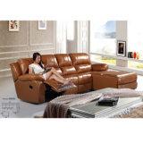 Sofá 6005L do Recliner do sofá de couro amarelo do Recliner o melhor