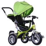 3車輪は手で押す子供か赤ん坊の三輪車またはベビーカー(OKM-1317)を