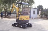 1.6t null Tail&Retractable Chassis-Miniexkavator mit Kabinendach