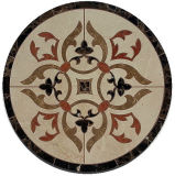 Medaglione Waterjet del pavimento di marmo rotondo