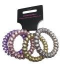 パックのプラスチック真珠の一見の電話コードHairbandsの4PCS