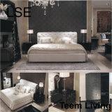 Lse-lederne Bett-Größengleichbett-Hotel-Bett-Schlafzimmer-Möbel-französische provinzielle Möbel