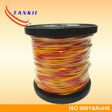 Câble de thermocouple isolé jaune rouge de rallonge en verre de fibre (type KX)