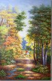 100%のハンドメイドのキャンバスオイル絵画ハンチング