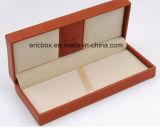 Jy-Pb04 돋을새김된 로고를 가진 주황색 PU 가죽 플라스틱 펜 선물 상자