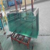 vidrio Tempered claro de gran tamaño de 6-12m m para el carril de cerca