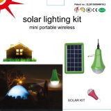 Le lever de soleil global allume la lumière à la maison solaire de nécessaires de nécessaires solaires solaires d'éclairage avec l'ampoule 3W solaire