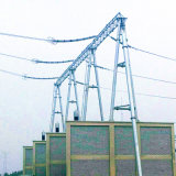 subestação Structure de 500kv Door Shapped Steel Tube Power Transmission