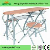 Los muebles de escuela plásticos de madera fijaron con el tubo del acero del metal