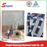 zaag van de Draad van de Diamant van 11.5mm de Rubber voor het Knipsel van de Steengroeve
