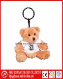 Brinquedo Loveable do urso da peluche de Keychain do luxuoso com Keyring