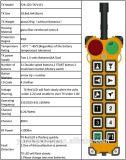 Regulador alejado sin hilos F24-12D de la grúa de Yuding del regulador de los botones de la velocidad doble 12