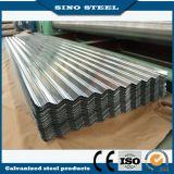 Hoja de acero acanalada galvanizada sumergida caliente Z30~Z600