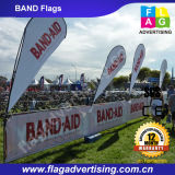 Sublimationsdruck Benutzerdefinierte Fin Feather Flag Banner für Veranstaltungen
