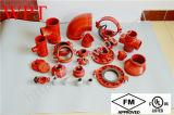 Garnitures Grooved malléables approuvées de fer de fonte d'UL de FM