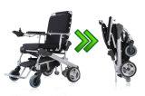 E-Trono dorato 8 del motore '' sedia a rotelle elettrica pieghevole di potere senza spazzola 12 '' 10 '' con la batteria LiFePO4