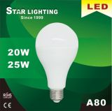 95~105 bulbo de Lm/W A80 20With25W E27 LED