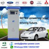 Estação cobrando rápida de carro elétrico da C.C. (potência de SETEC)