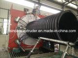 HDPEの肋骨は螺線形の管の生産ライン機械の側面図を描いた