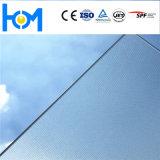 Ar покрывая низкий утюг текстурировал стекло Toughened панелью солнечных батарей для модуля PV