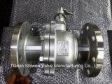 Q41f-16p/R/C 2PC ensanchó las vávulas de bola ISO-Dirige el postizo de montaje