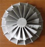 La ventola della rotella del compressore della lega di alluminio della pressofusione utilizzata per il Turbocharger