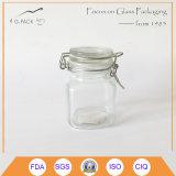 Cap 높은 쪽으로 Flip를 가진 8oz Glass Jar
