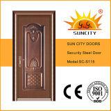 Portes simples de cuivre meilleur marché en métal de la sécurité Sc-S115