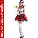 Costume платья Cosplay девушки пива причудливый -Плеча Oktoberfest Lace-up для женщин