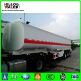 Acoplado del petrolero del combustible con la carrocería del tanque de acero de carbón de 5m m