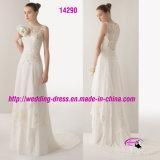 Платье венчания милой вышивки Beadwork Bridal