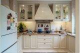 旧式で白い木製の食器棚の家具Yb1706025