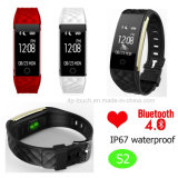 IP67 imperméabilisent le bracelet intelligent du traqueur S2 Bluetooth de forme physique