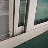 粉の三日月形ロックの蚊帳が付いている上塗を施してあるアルミニウムプロフィールのWindows、アルミニウムスライディングウインドウまたはアルミニウムスライディングウインドウK01006