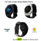 Vista de pantalla completa redondo reloj teléfono inteligente con ranura para tarjeta SIM (KS2)