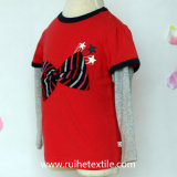 Embroidery/Print populaires T-Shirt pour Girl