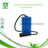 18650 bloco da bateria do Li-íon de 12V 2000mAh para a tocha da lanterna elétrica do diodo emissor de luz