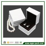 Cadre de bijou en bois laqué lustré blanc de piano