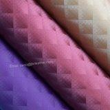 多色刷りの格子織り目加工PUの革、魚網の装飾的な革ファブリック
