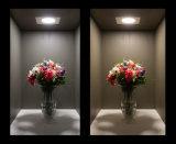 Nuova illuminazione di comitato quadrata ultra sottile del tondo 12W 18W Downlight LED dell'alluminio