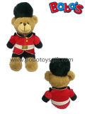 Het Stuk speelgoed van de Teddybeer van de Gardesoldaat van de Pluche van de douane