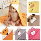 Полотенце младенца полотенца ванны хлопка с капюшоном с вышивкой