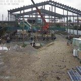 食肉処理場を構築する前に設計された鉄骨構造の工場材料