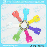 Logotipo personalizado Multi Color Aluminium Key USB Flash Drive (ZYF1154)