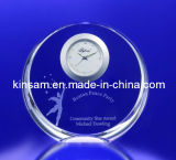 Reloj cristalino clásico del favor de la boda y reloj de cristal de los Dom (KS26036)